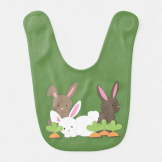 Cute Bunny Rabbit Trio Bib