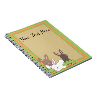 Cute Bunny Rabbit Trio Personalized Notebook