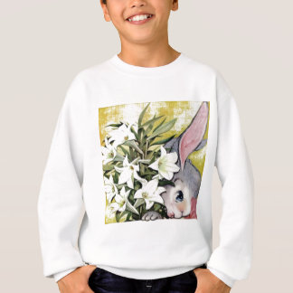 Cute Bunny Rabbit with Flowers Sweatshirt