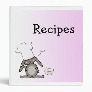 Cute Bunny Recipe Binder