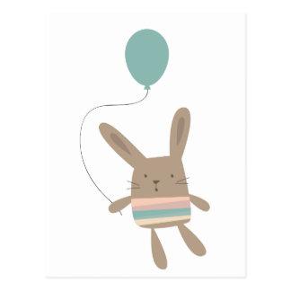 Cute Bunny with Balloon Postcard