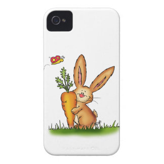 Cute Bunny with Carrot by Gerda Steiner/Send2smile Case-Mate iPhone 4 Cases
