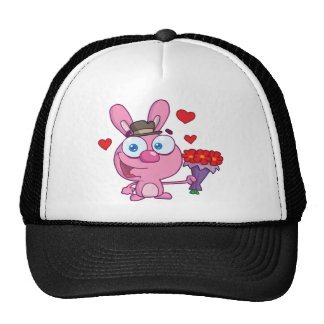 Cute Bunny With Flowers Cap