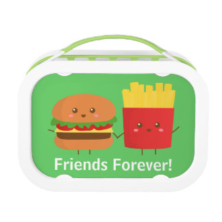 Cute Burger and Fries, Friends Forever Lunch Boxes