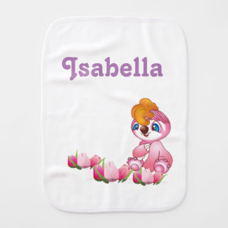 Cute burp cloth for girls