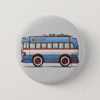 Cute Bus Tour Bus 6 Cm Round Badge