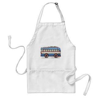 Cute Bus Tour Bus Adult Apron