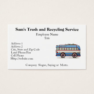 Cute Bus Tour Bus Business Card