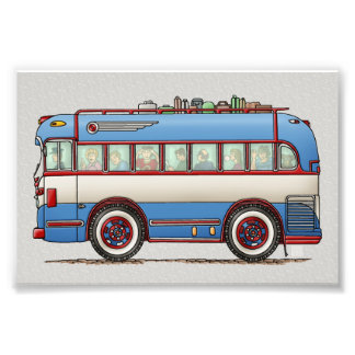 Cute Bus Tour Bus Photo Print