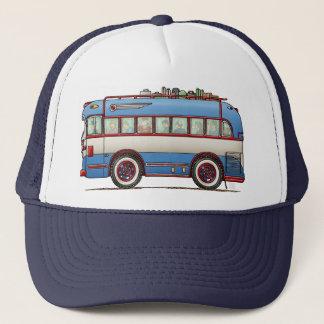 Cute Bus Tour Bus Trucker Hat