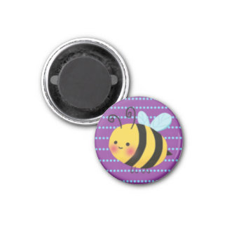 Cute Busy Bumble Bee 3 Cm Round Magnet