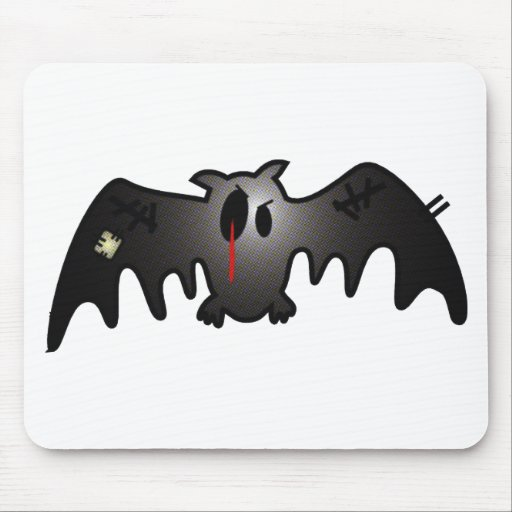 CUTE BUT BLEEDING PATCHY BAT MOUSE PAD