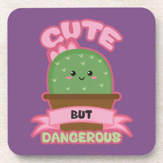 Cute But Dangerous - Kawaii Cactus - Funny Coaster