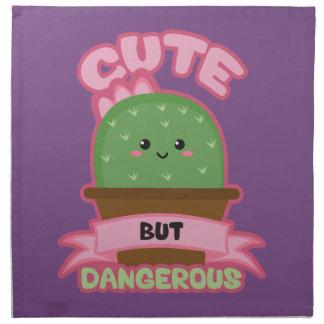 Cute But Dangerous - Kawaii Cactus - Funny Napkin