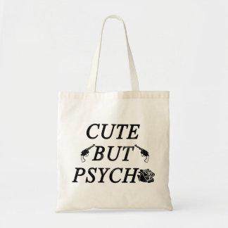 Cute but psycho budget tote bag