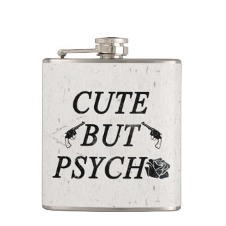 Cute but psycho hip flask