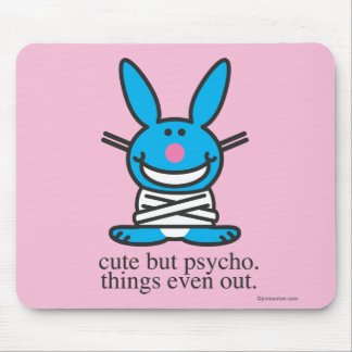 Cute but Psycho Mouse Mat
