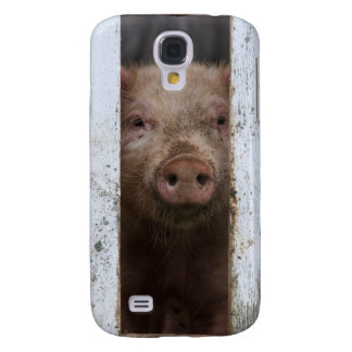 Cute But Sad Looking Baby Pig Looking Through Galaxy S4 Case