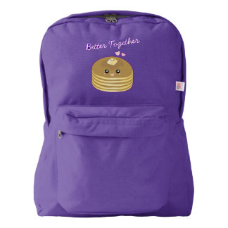Cute Butter Pancakes Better Together Funny Foodie Backpack