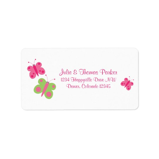 Cute Butterflies Address Labels