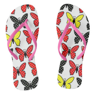 cute butterflies  Adult, Slim Straps Flip Flops