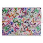Cute butterflies Watercolor paint design pattern Card