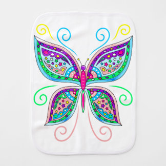 Cute Butterfly Burp Cloth