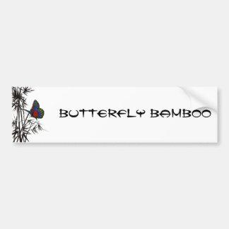 cute butterfly in bamboo bumper sticker