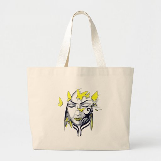 cute butterfly lady canvas bag