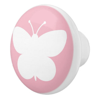 Cute butterfly nursery door and drawer pull knobs