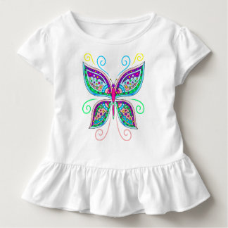 Cute Butterfly Toddler Ruffle Tee