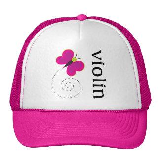 Cute Butterfly Violin Mesh Hats