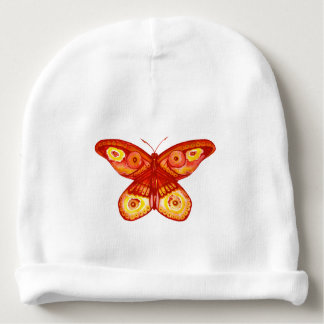 Cute Butterfly Watercolour Baby Beanie