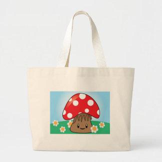 Cute Button Mushroom Canvas Bags