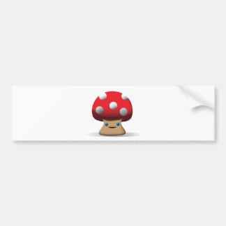 Cute Button Mushroom Bumper Stickers