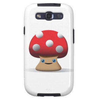 Cute Button Mushroom Galaxy S3 Cover