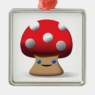 Cute Button Mushroom Christmas Ornament