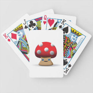 Cute Button Mushroom Deck Of Cards