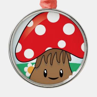 Cute Button Mushroom Ornaments