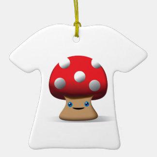 Cute Button Mushroom Christmas Tree Ornament