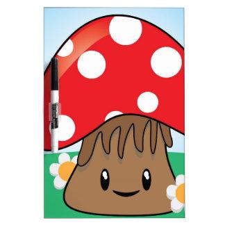 Cute Button Mushroom Dry-Erase Board