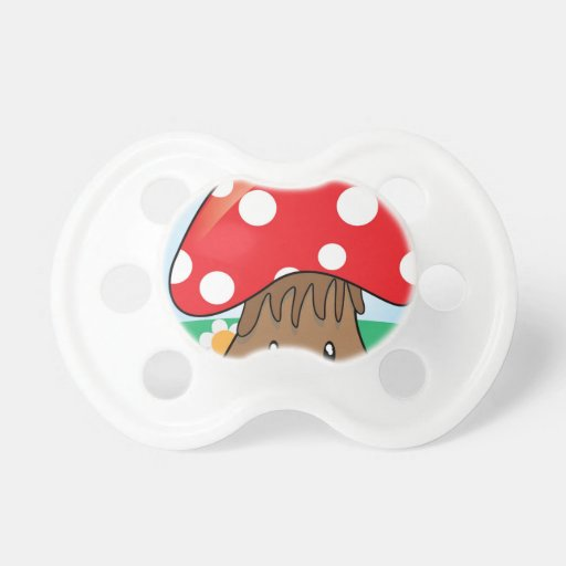 Cute Button Mushroom Baby Pacifiers