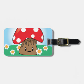 Cute Button Mushroom Tags For Luggage