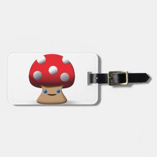Cute Button Mushroom Tags For Bags