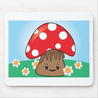 Cute Button Mushroom Mousepads