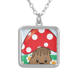 Cute Button Mushroom Custom Necklace