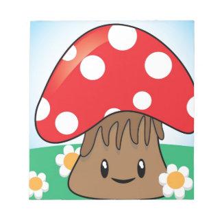 Cute Button Mushroom Scratch Pads
