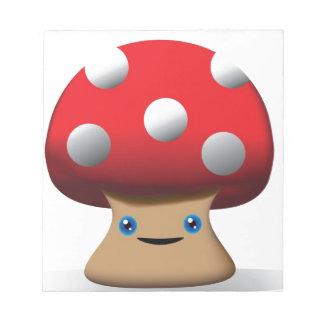 Cute Button Mushroom Note Pads