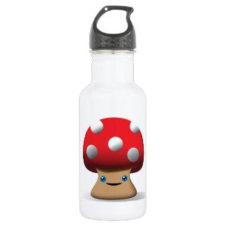 Cute Button Mushroom 18oz Water Bottle