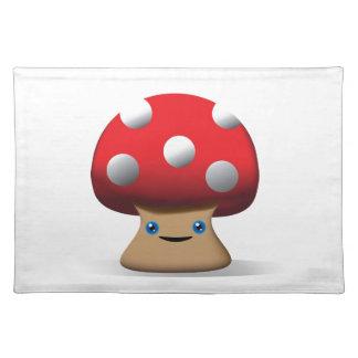 Cute Button Mushroom Place Mats